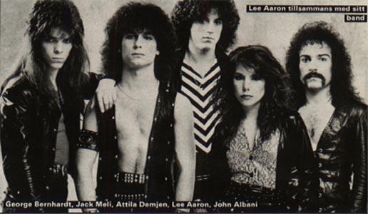 Lee Aaron With Band 1984