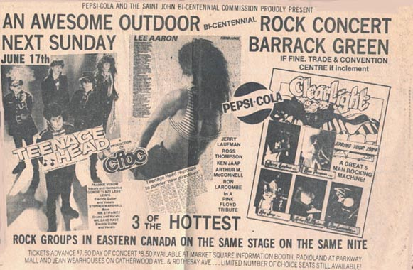 Ad for show in St. John,NB,Canada 1984