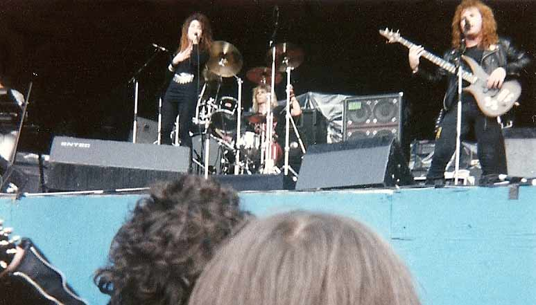 Lee Aaron on stage at Reading Festival 1987 Photo by: Dave Hall ©