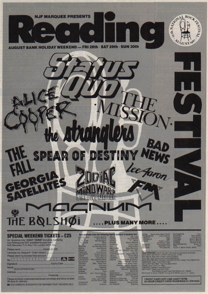 Ad for Reading Festival 1987