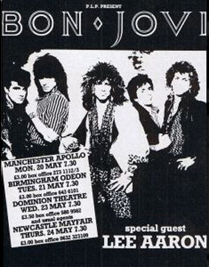 magazine ad for the Bon Jovi tour