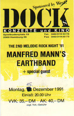Ticket from Docks/Hamburg 1991
